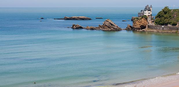 plage côte de basques à Biarritz